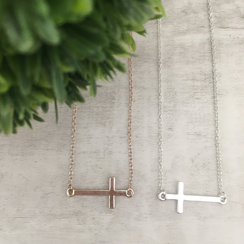 Dainty Necklace | Cross