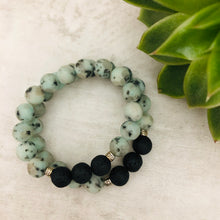 Stone stacker bracelet | Sea Pepper Matte