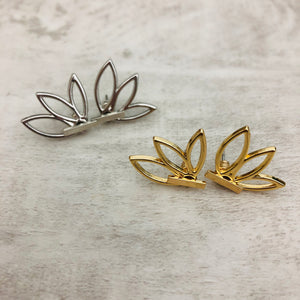 Double Sided Earrings | Ear Jacket Petals