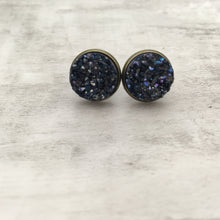 Druzy Earrings | Original - Midnight Purple