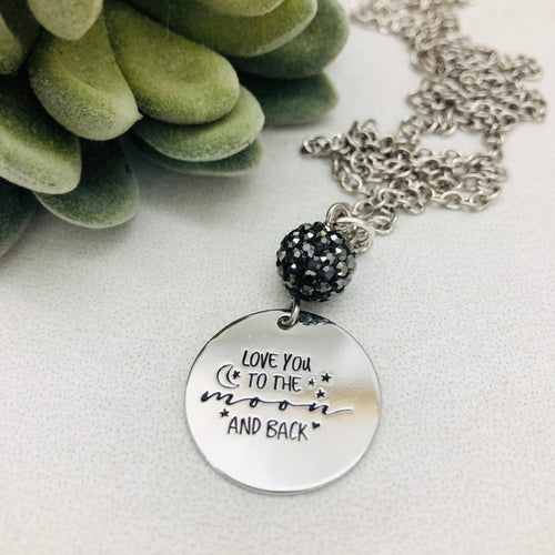 Love you to the Moon and Back Coin Necklace