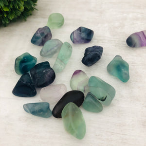 "Fluorite ""The Chill Pill"" Stone Tumbler"