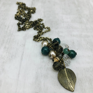 Necklace Cluster | Earthy Leaf