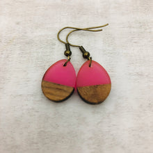 Coconut Wood Earring | Tear Drop