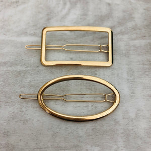 Hair Clip Oval + Rectangle