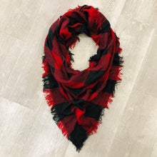 Triangle Blanket Scarf | Buffalo Plaid