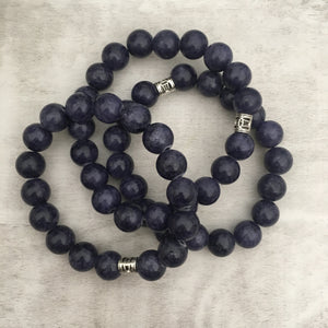 Stone stacker bracelet | Purple Haze