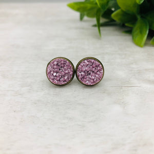 Druzy Earrings / Original / Purple Lilac