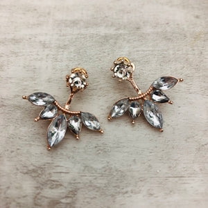 Double Sided Earrings | Ear Jacket Diamonds
