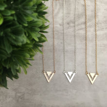 Dainty Necklace | Triangle Double