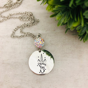 Dream Big Unicorn Coin Necklace