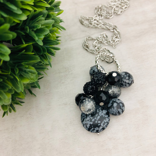 Necklace Cluster | Snowflake Obsidian