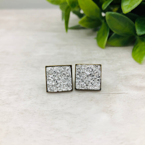 Druzy Earrings / Square / Various Colours