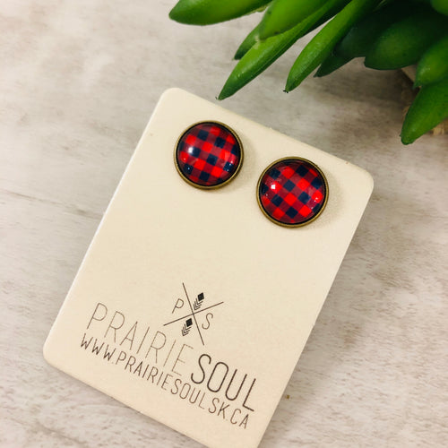 Graphic Earrings | Plaid