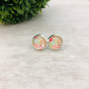 Graphic Earrings | Paisley Pastel