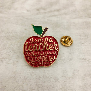 Pin Apple I'm a Teacher, What's your superpower?