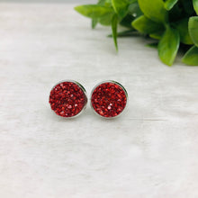 Druzy Earrings / Original / Red