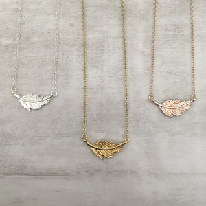 Dainty Necklace | Feather