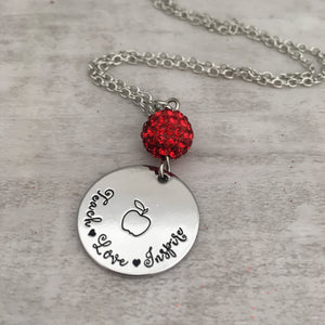 Necklace | Teach Love Inspire apple