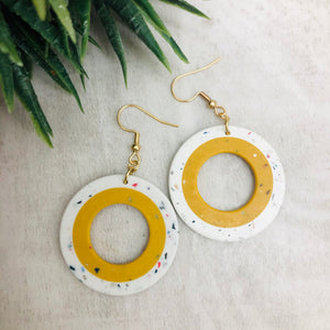 Earring | Speckled Sunshine Circle