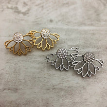 Double Sided Earrings | Ear Jacket Flower