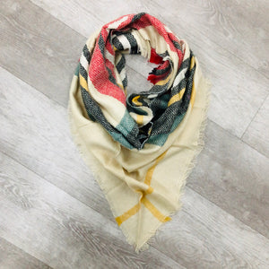 Triangle Blanket Scarf | Tan Spice