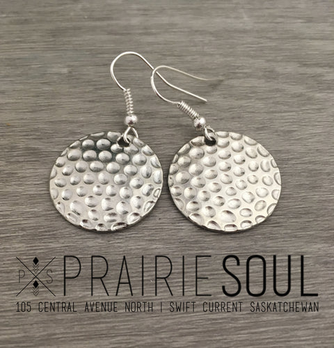 Charm Earring | Cirlcles Hammered