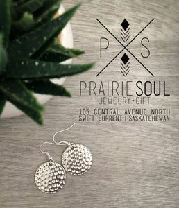 Charm Earring | Circles Hammered