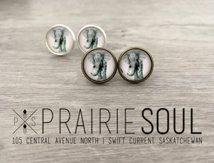 Graphic Earrings | Elephant