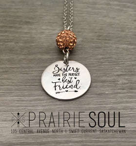 Sisters Best Friends Necklace