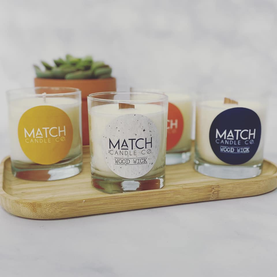 Match Soy Candle Cotton or Wood Wick | Fall + Winter