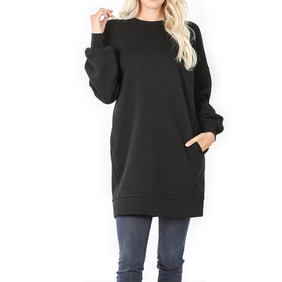 Sweatshirt long with pockets 33
