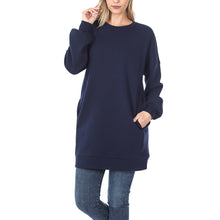 Sweatshirt long with pockets 33""