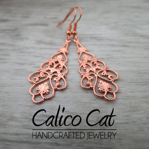 Charm Earrings | Filigree drop