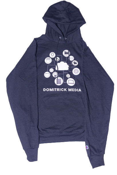 Black Domitrick Media x Champion Hoodie (Youth)