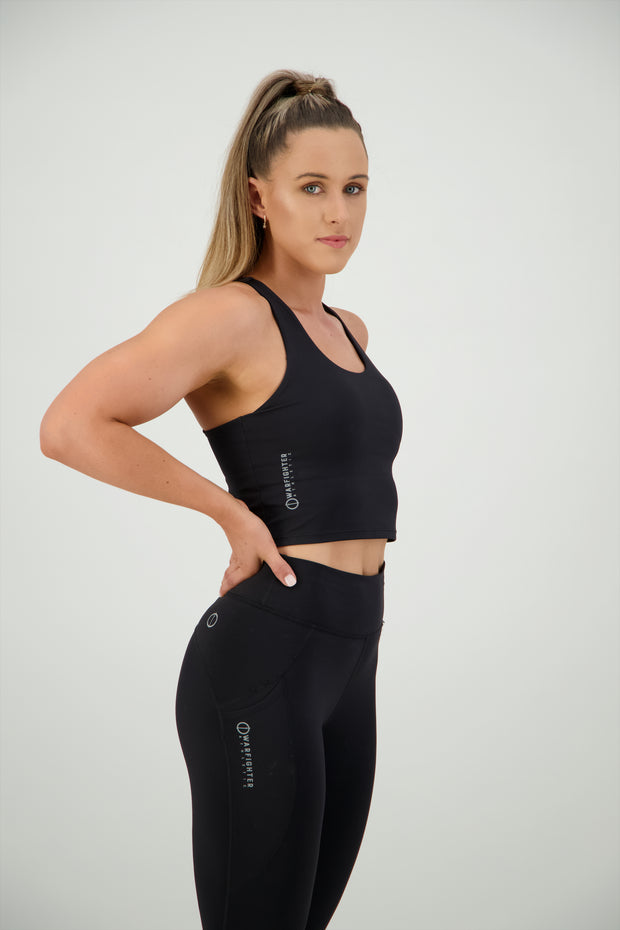 Warrior Athlete Sports Bra - Black