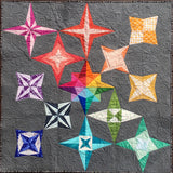 Foundation paper pieced rainbow star quilt