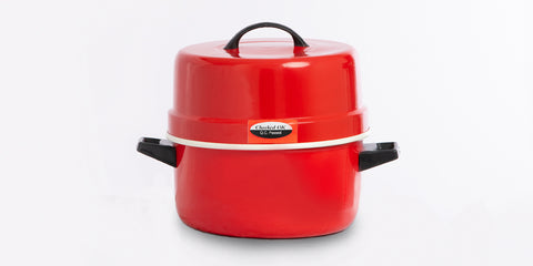 Blueberry's Double Layer Body, Red Powder Coated, Aluminium Thermal Rice Cooker (Choodarapetty) with Stainless Steel Pot (1.5kg)