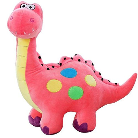 Soft Cartoon Cuddly Dinosaur Dragon Colourful Plush Toy Stuffed Soft Plush Kids (Pink, 33 cm)