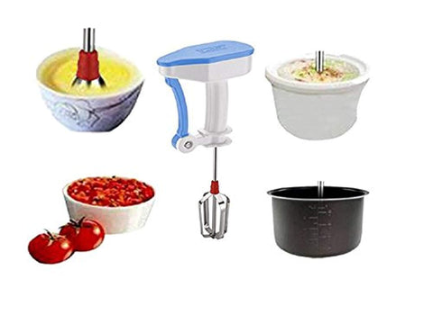 Plastic & Stainless Steel Hand Blender for Egg & Cream Beater, Milkshake, Lassi, Butter Milk Mixer Maker