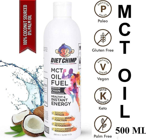 Shadow Securitronics Naturals MCT Oil From Coconut Unsweetened Diet Sports Supplement (500 ml)