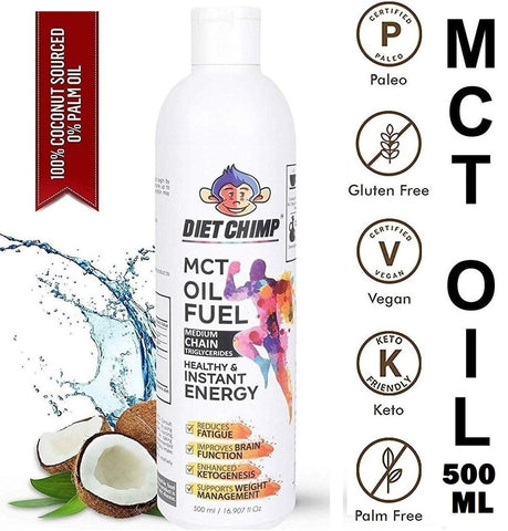 Shadow Securitronics Chimp Naturals MCT Oil From Coconut Unsweetened Keto Diet Sports Supplement.