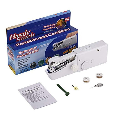 Easelifetm Small Portable Hand Sewing Machine, Compact Mini Handheld Sewing Repair Kit For Fabric And Kid'S Cloth