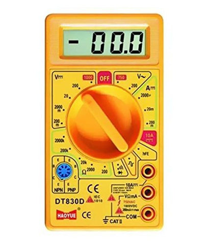 D830D Digital Multimeter LCD AC DC Measuring Voltage Current (not for professional use) Colour may vary