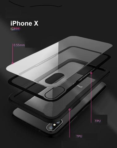 Shadow Securitronics 2 in 1 Ultra Hybrid TPU & Clear Case Premium quality for i phone x