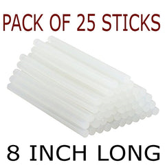Pack of 25 piece Hot Melt Clear Glue Sticks | 8 INCHES LONG | (25 piece)