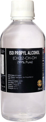 Iso-Propyl Alcohol 99 Percent Pure [(CH3)2-CH-OH] CAS: 67-63-0, 250ml