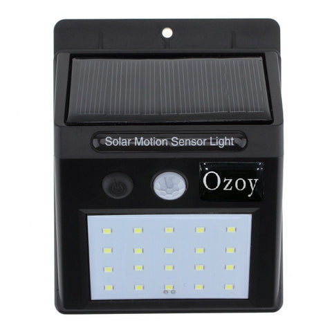 Ooozy Solar Wireless Security Motion Sensor Night Light - 20 LEDs Bright and Waterproof for Outdoor/Garden Wall (20 LED)