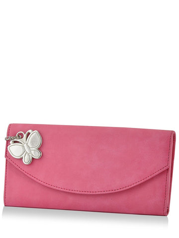 Butterflies Women's Wallet (Pink)