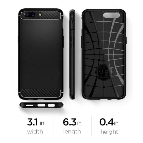 "Rugged Armor Premium Back Cover Case for OnePlus 5 / One Plus 5 €"" Black"